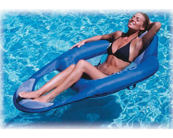 Floating lounger blue